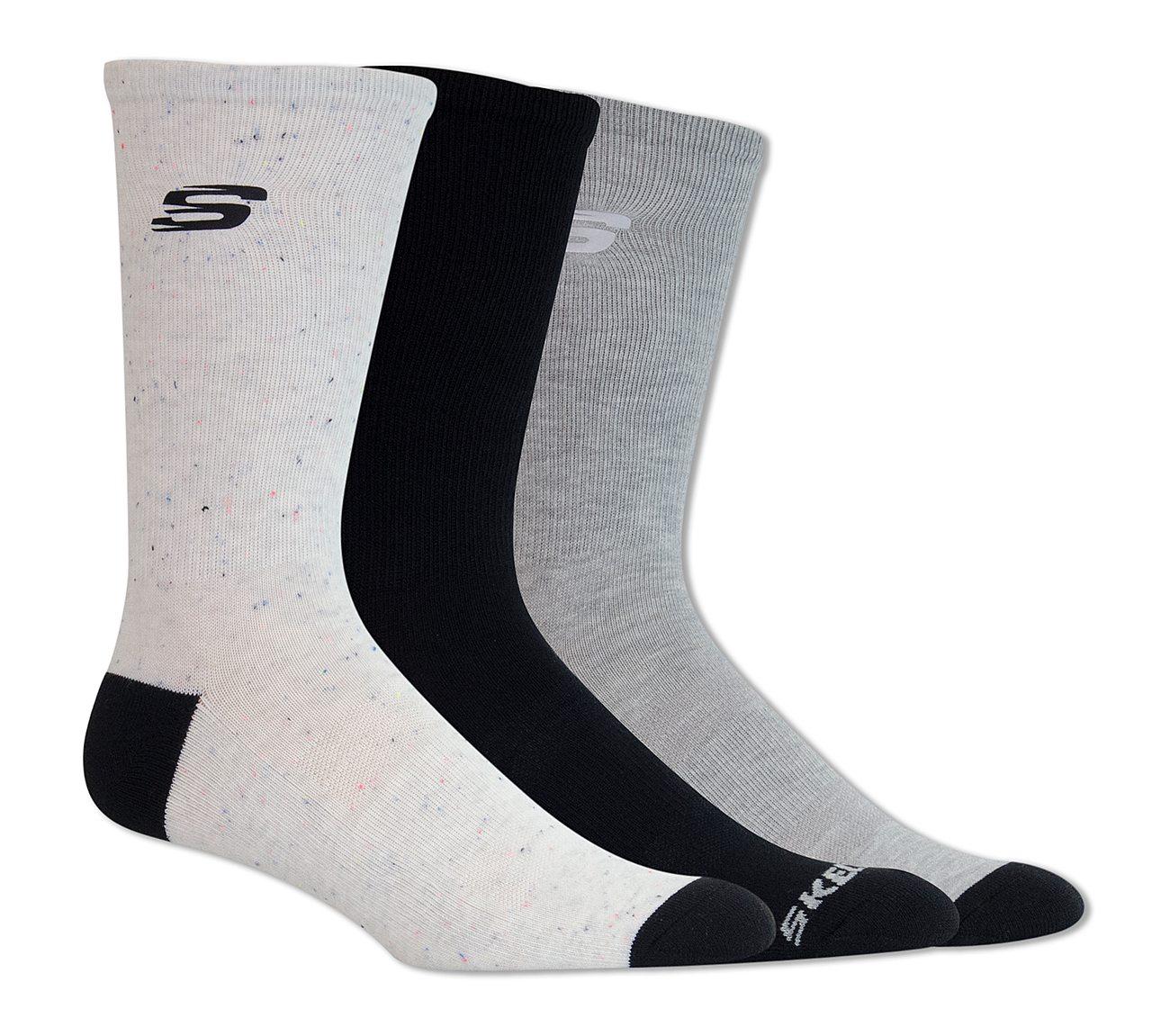 3 Pack Heathered Crew Socks