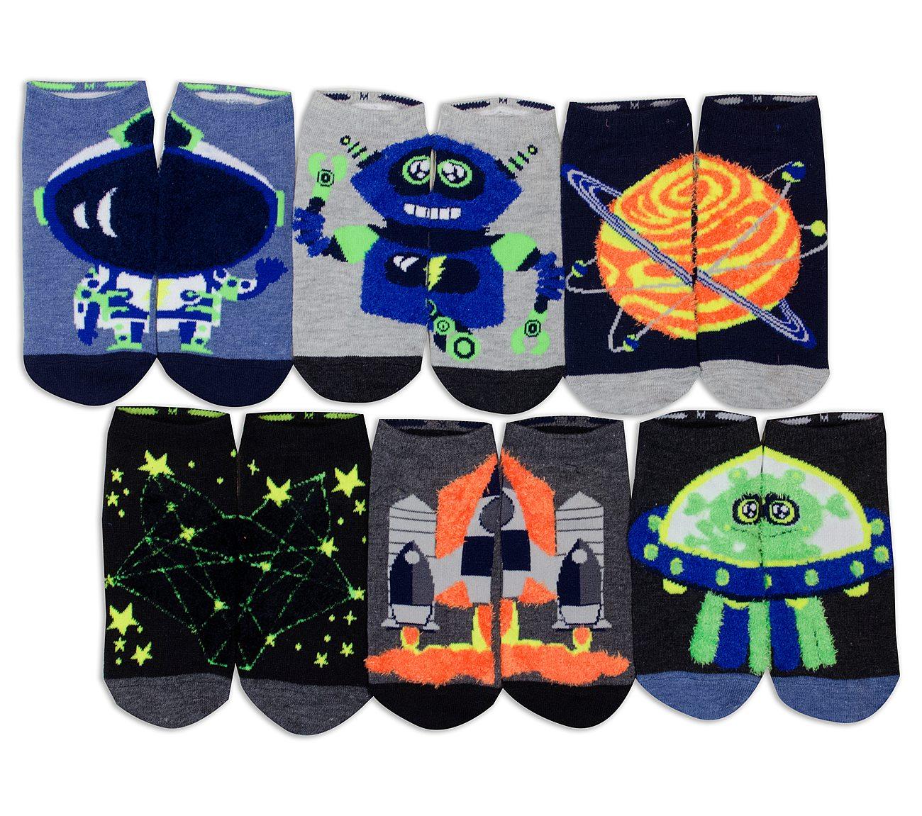 6 Pack Sci Fi Low Cut Socks