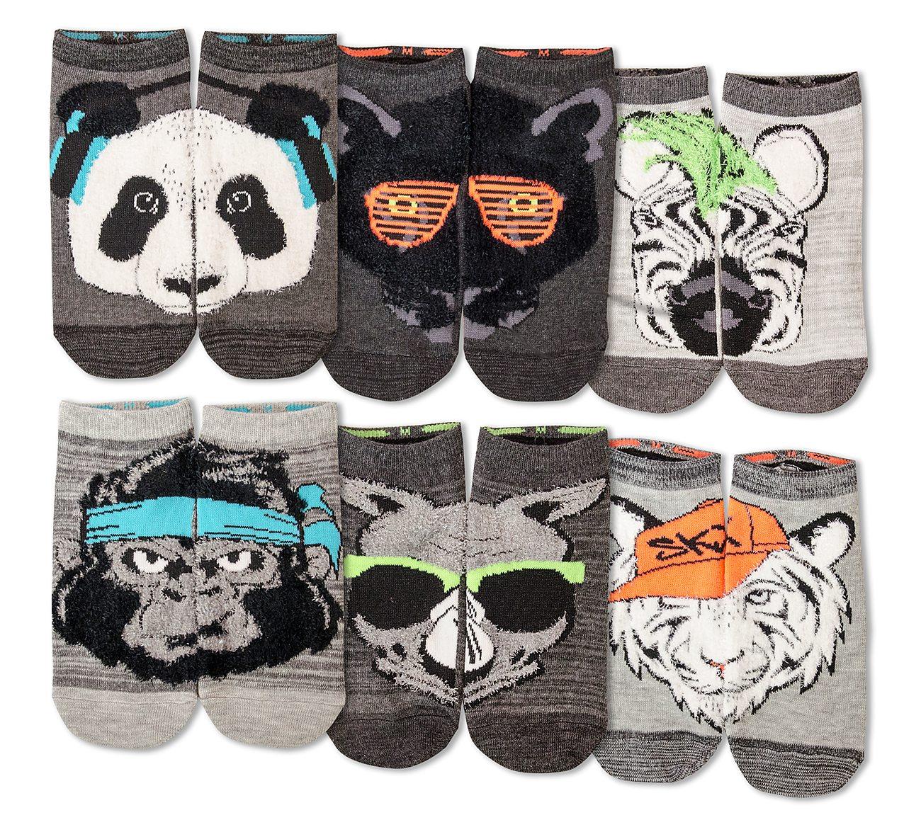 6 Pack Beastly Low Cut Socks