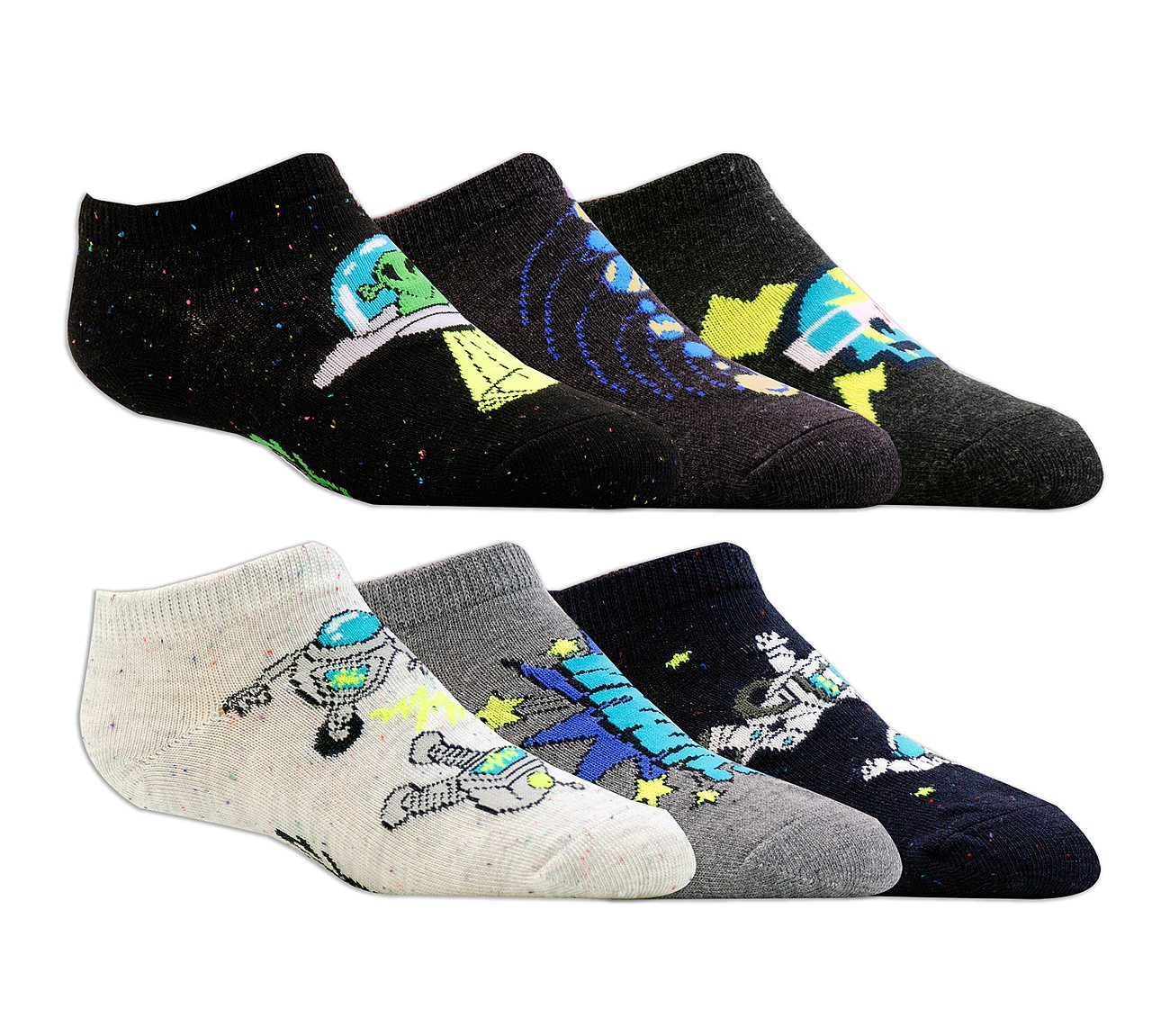 6 Pack Low Cut Space Socks