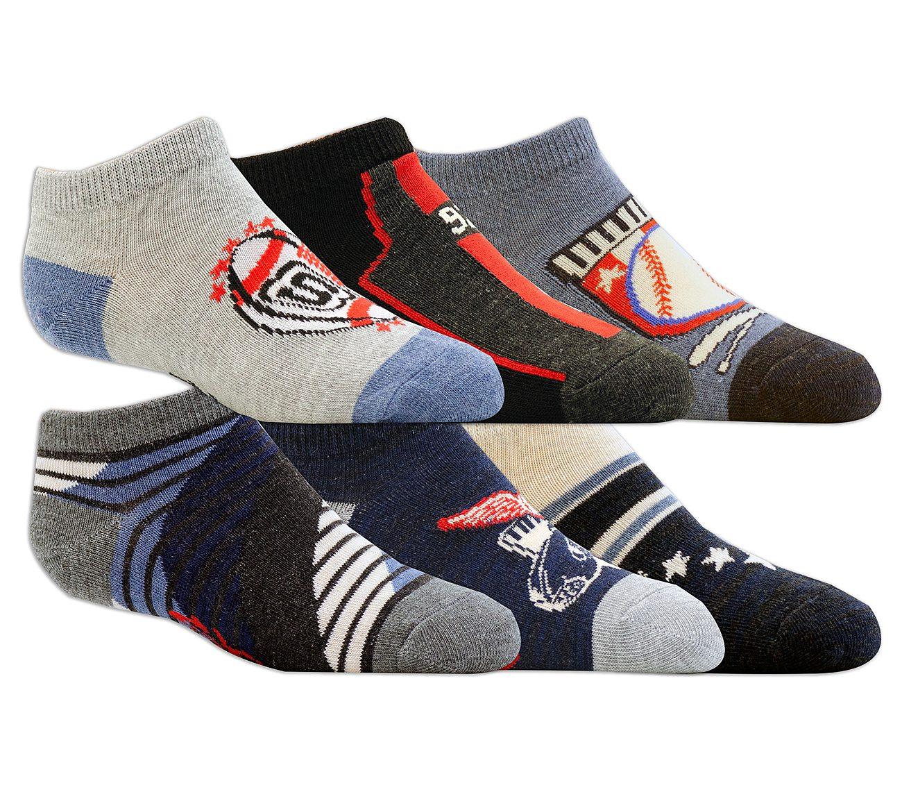 6 Pack Low Cut Sports Socks