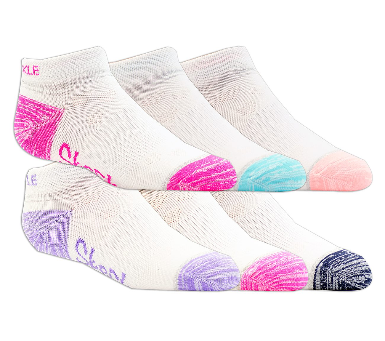 6 Pack Non Terry Low Cut Socks