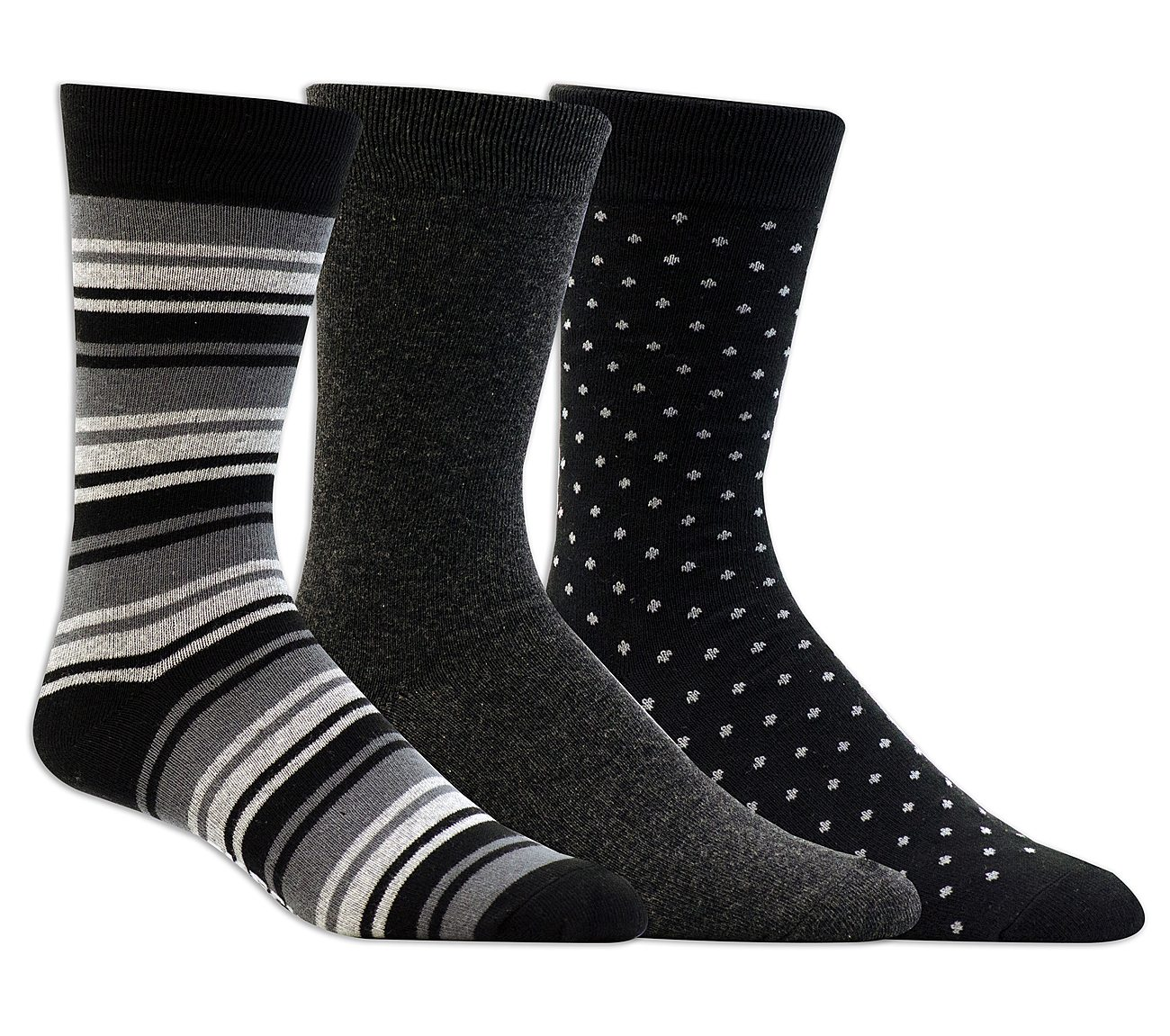 3 Pack Casual Dress Crew Socks