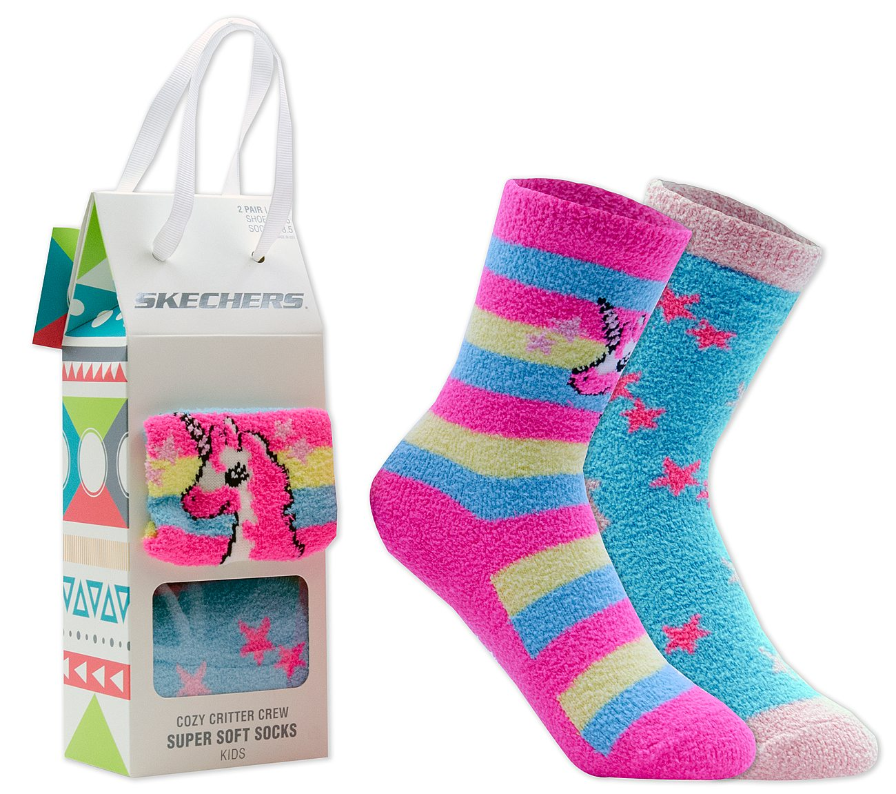 2 Pack Cozy Crew Unicorn Socks