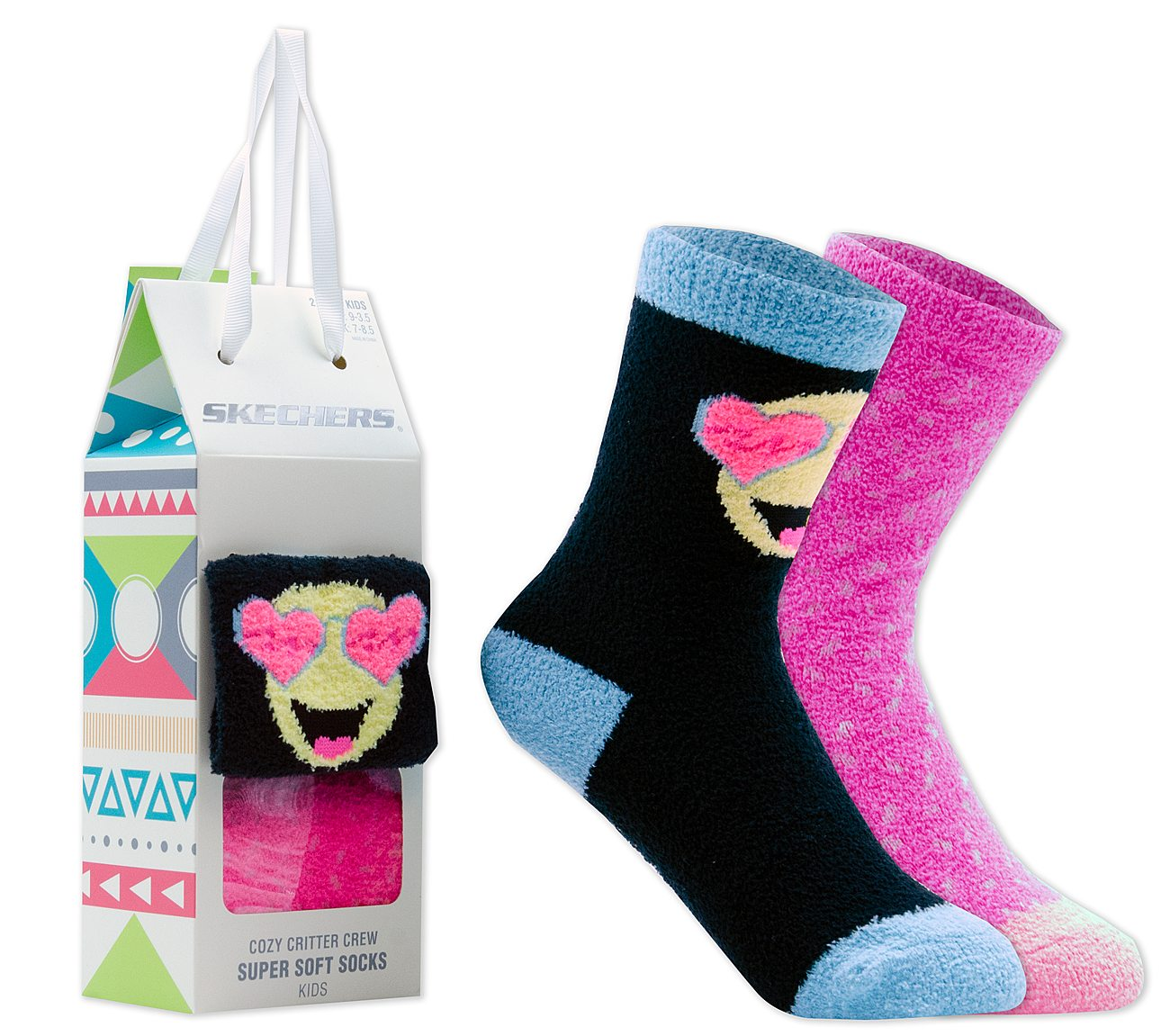 2 Pack Cozy Crew Emoji Socks