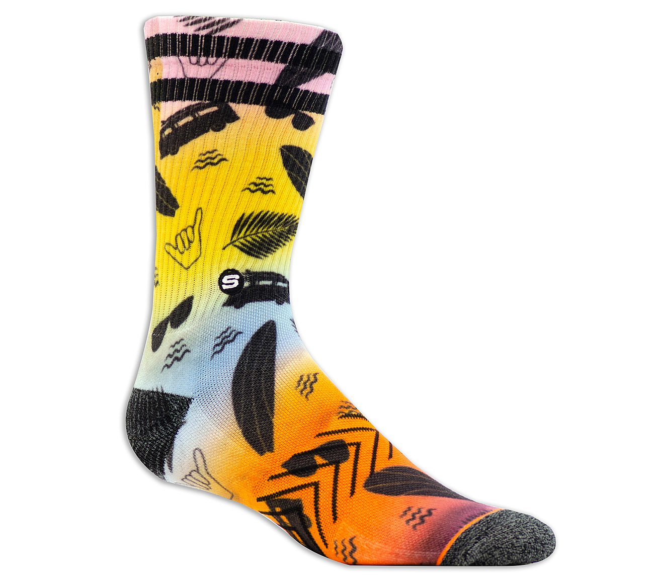 1 Pack Extended Terry Emoji Crew Sock