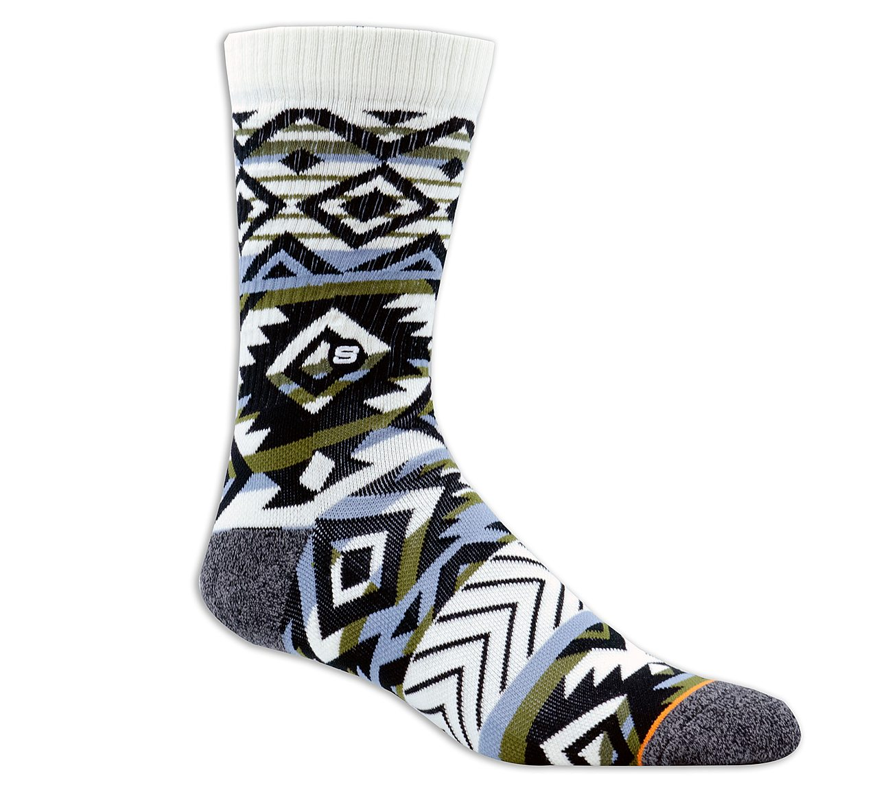 1 Pack Extended Terry Argyle Crew Sock