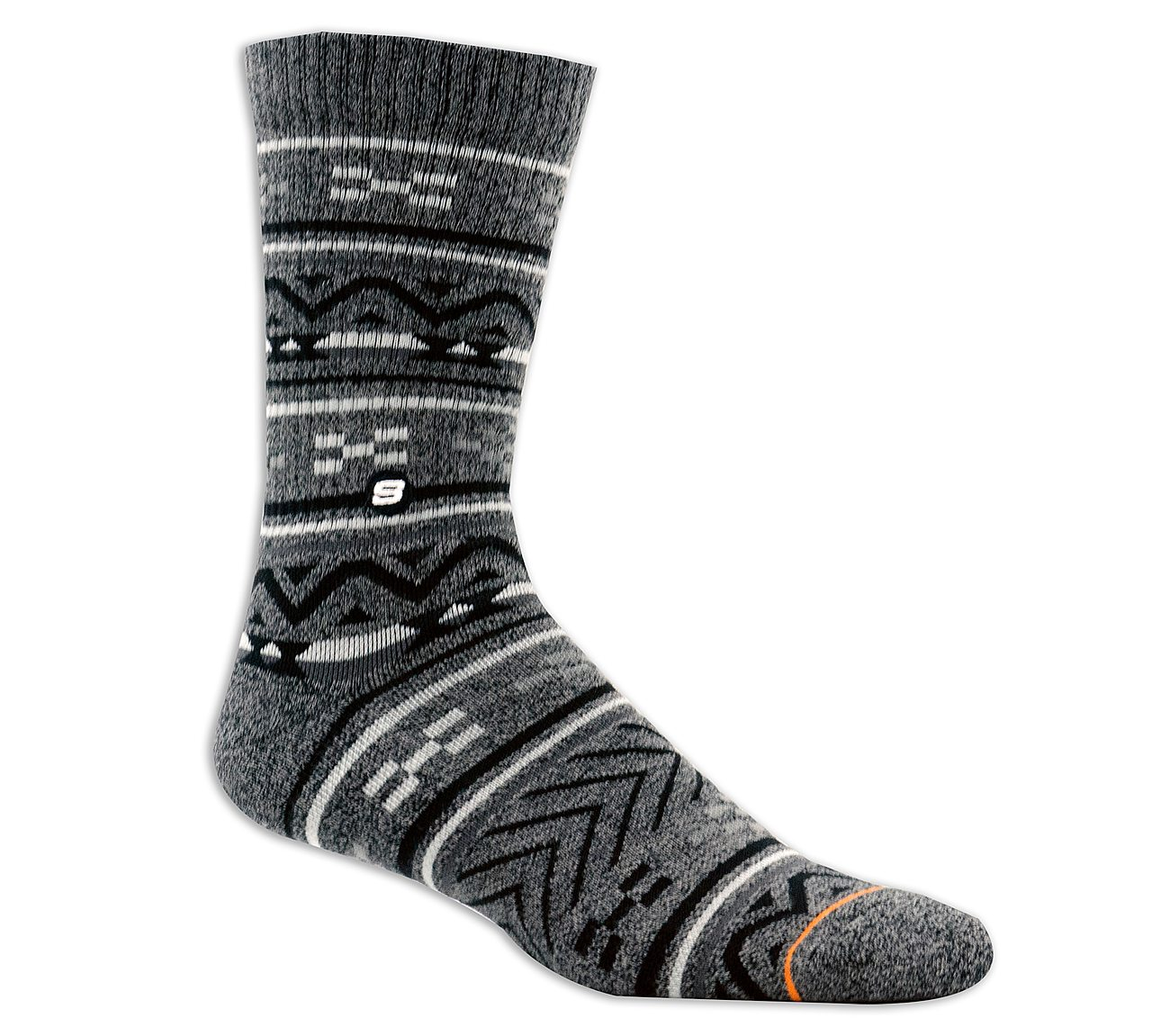 1 Pack Extended Terry Stripe Crew Sock
