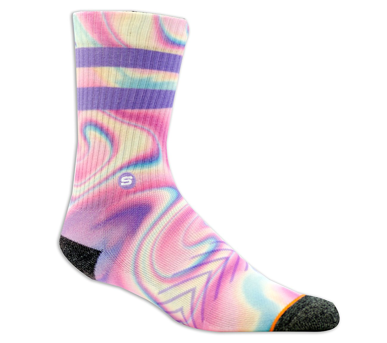 1 Pack Extended Terry Swirl Sock