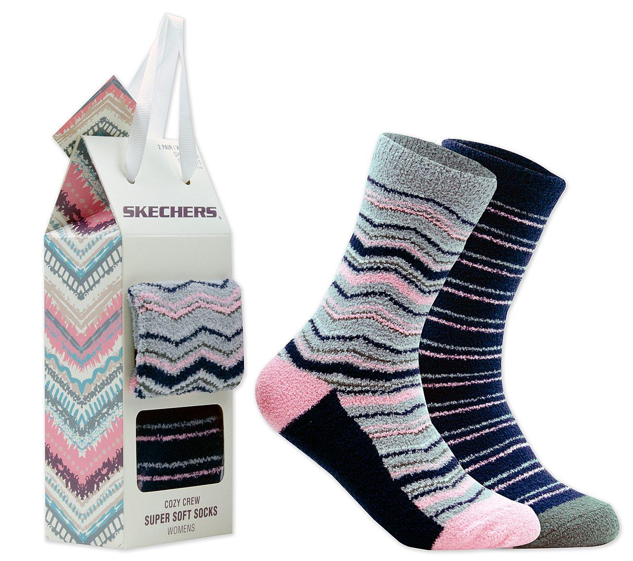 2 Pack Cozy Crew Stripe Socks