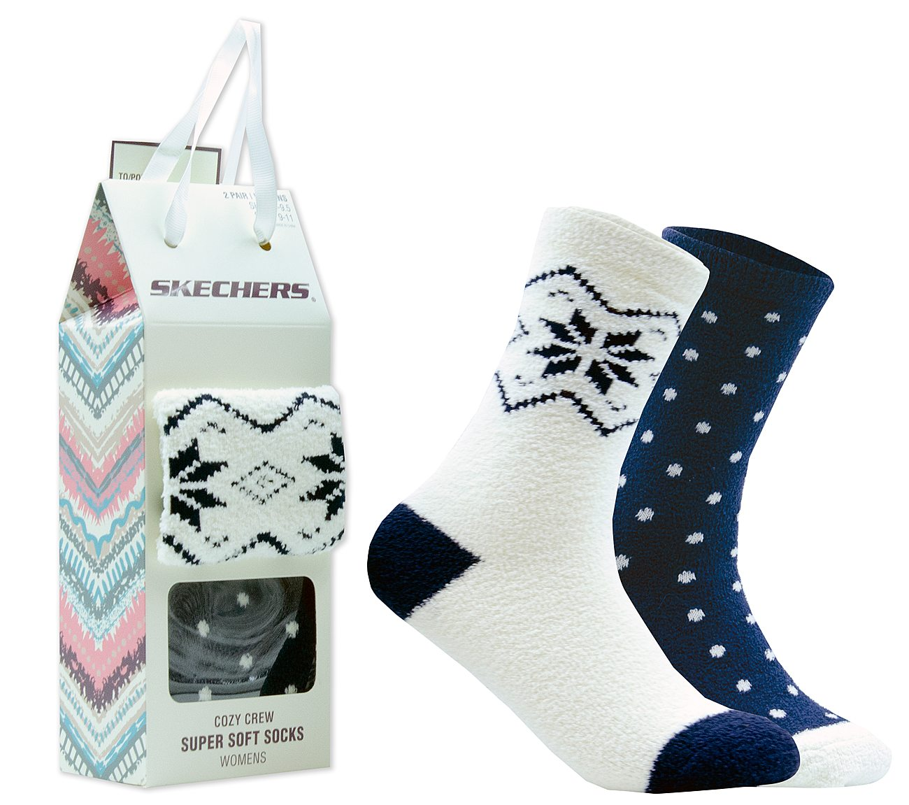 2 Pack Cozy Crew Socks