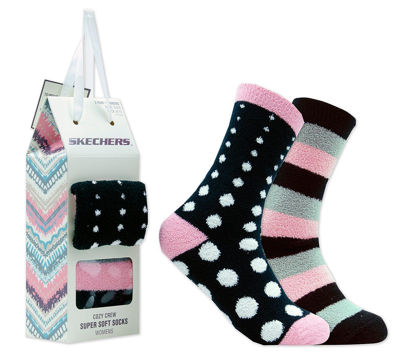 2 Pack Cozy Crew Polka Dot Socks