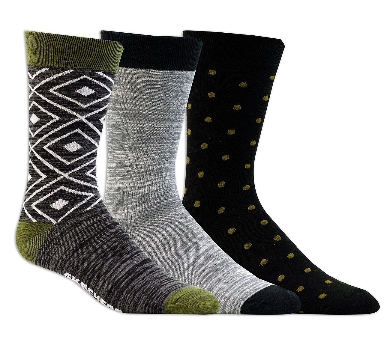 3 Pack Super Soft Heathered Crew Socks