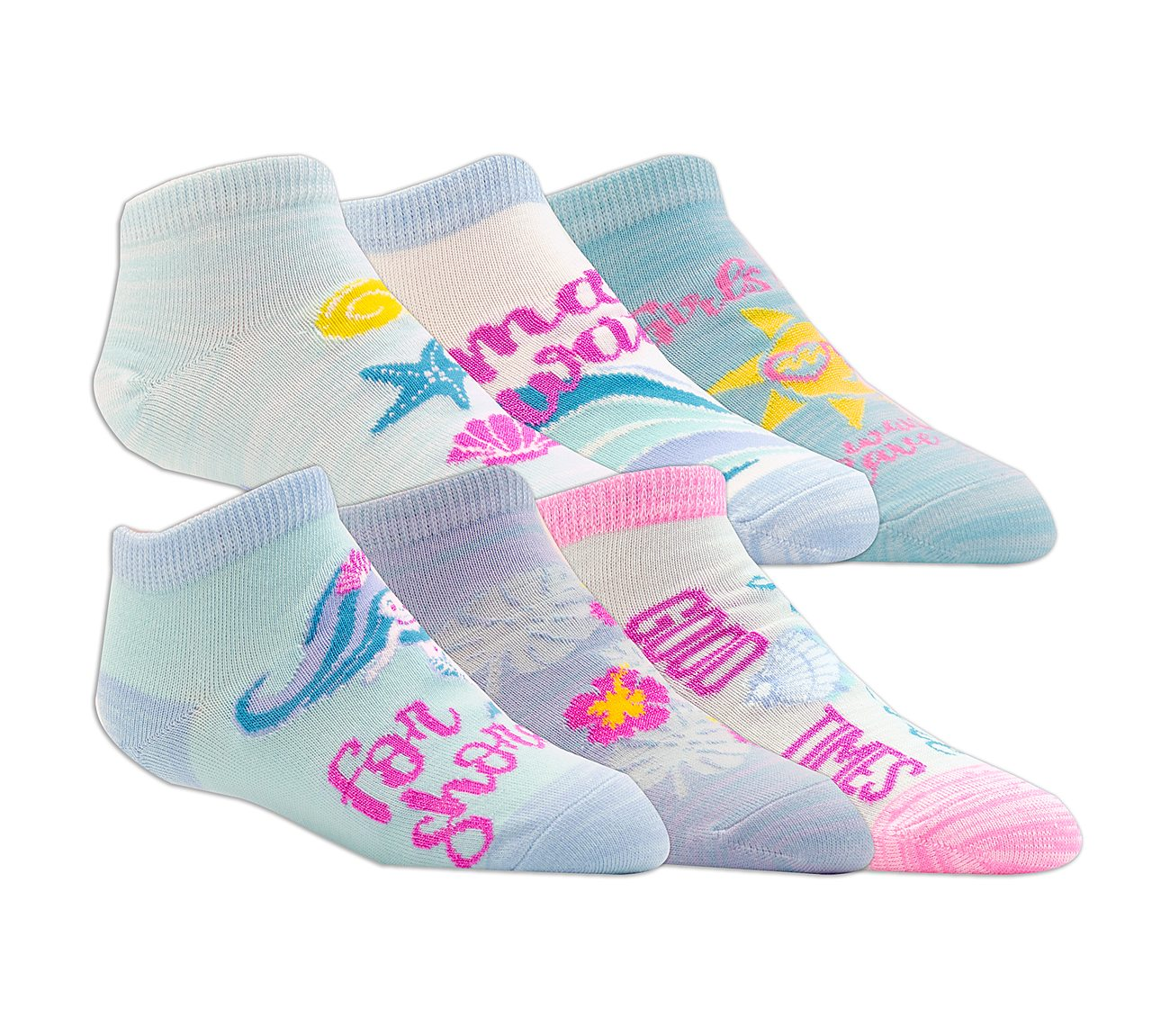6 Pack Low Cut Beach Socks