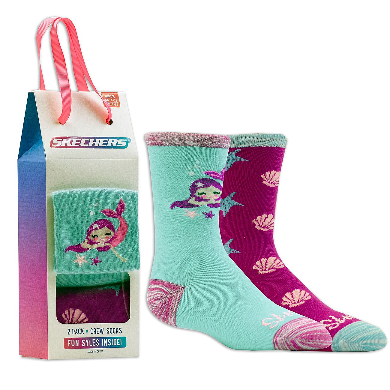 2 Pack Cozy Crew Mermaid Socks