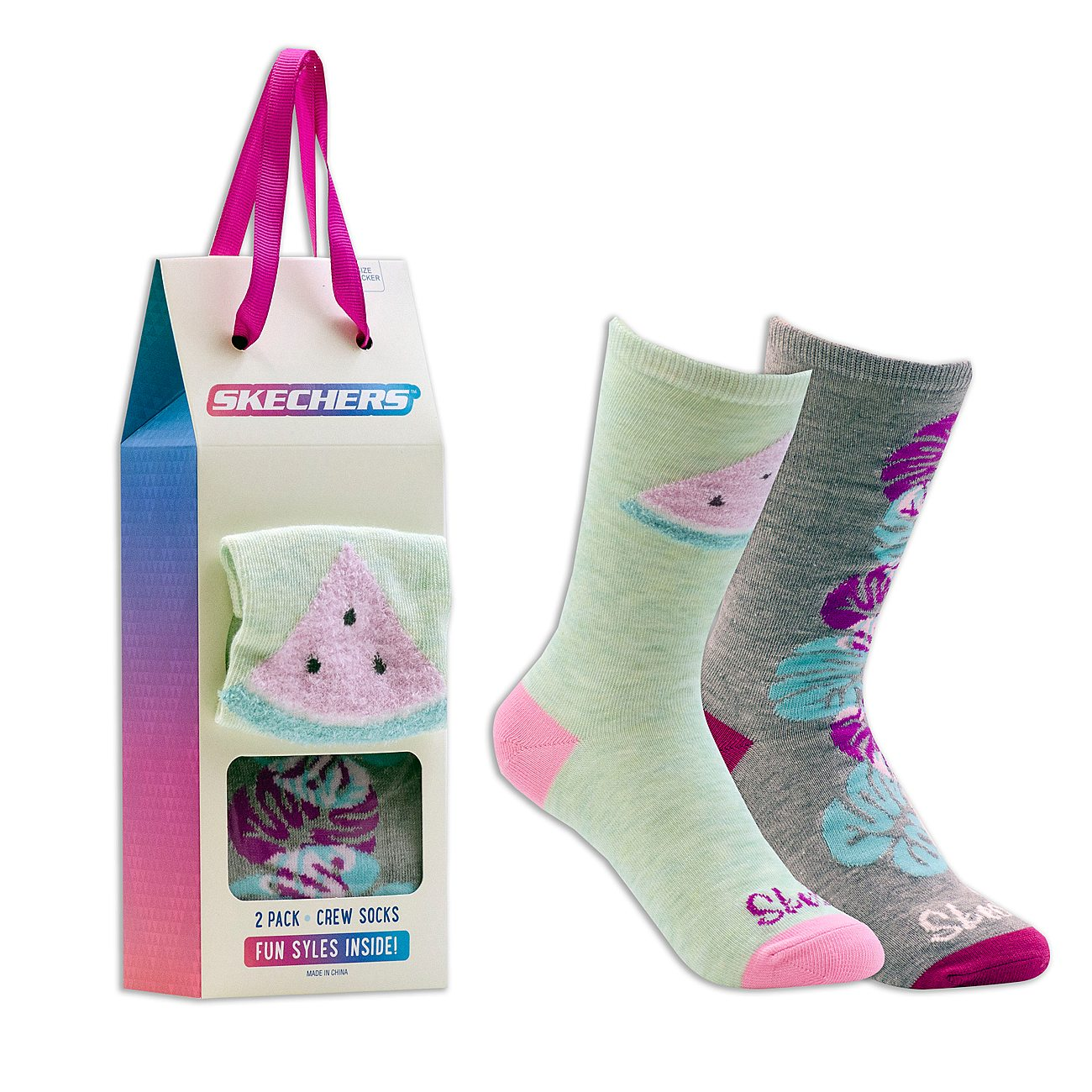 2 Pack Cozy Crew Tropics Socks