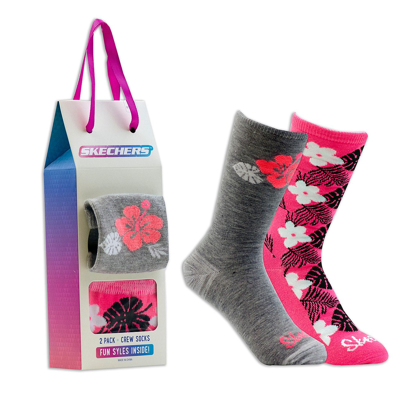 2 Pack Cozy Crew Flowerful Socks
