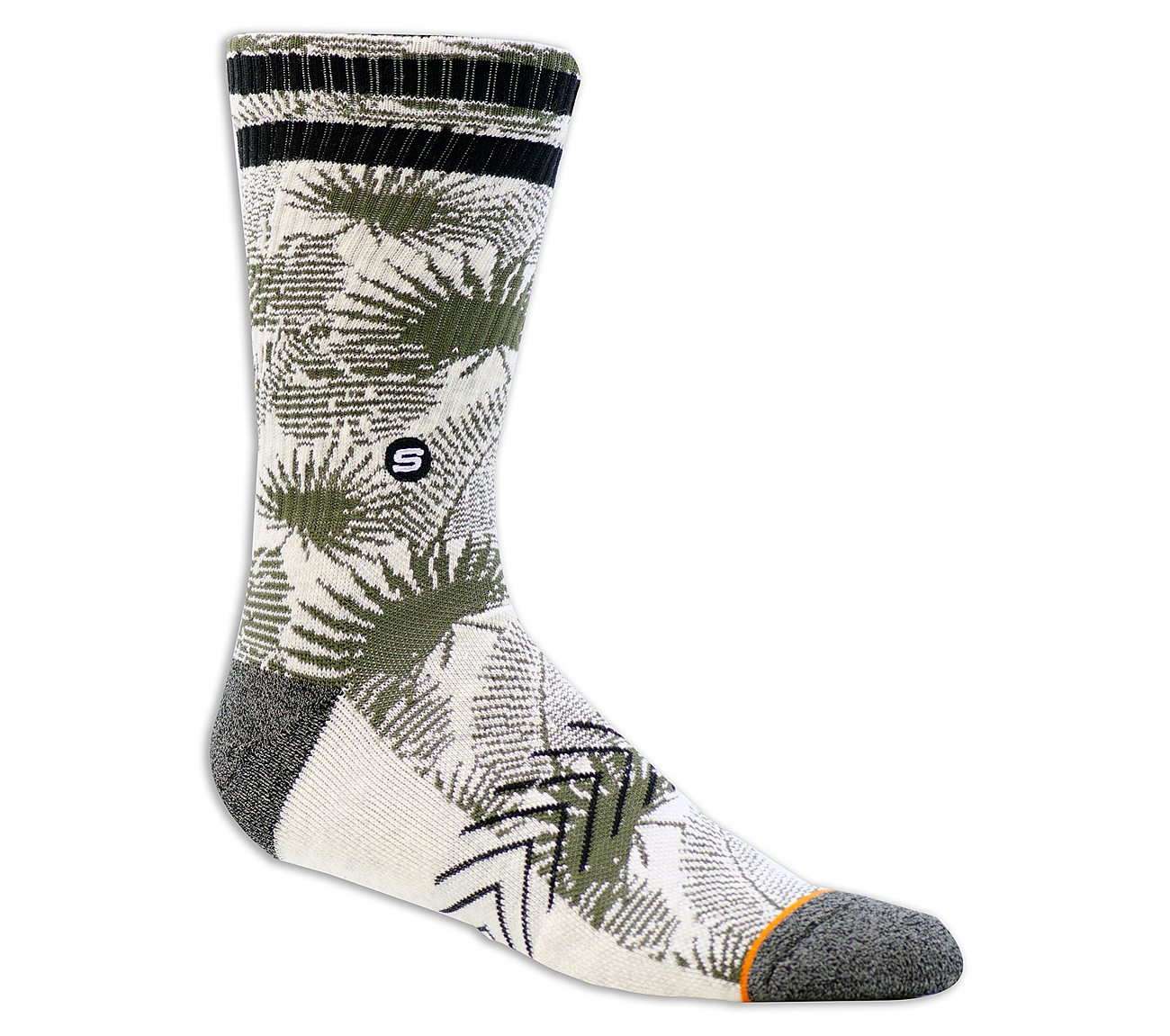 1 Pack Extended Terry Leaf Sock