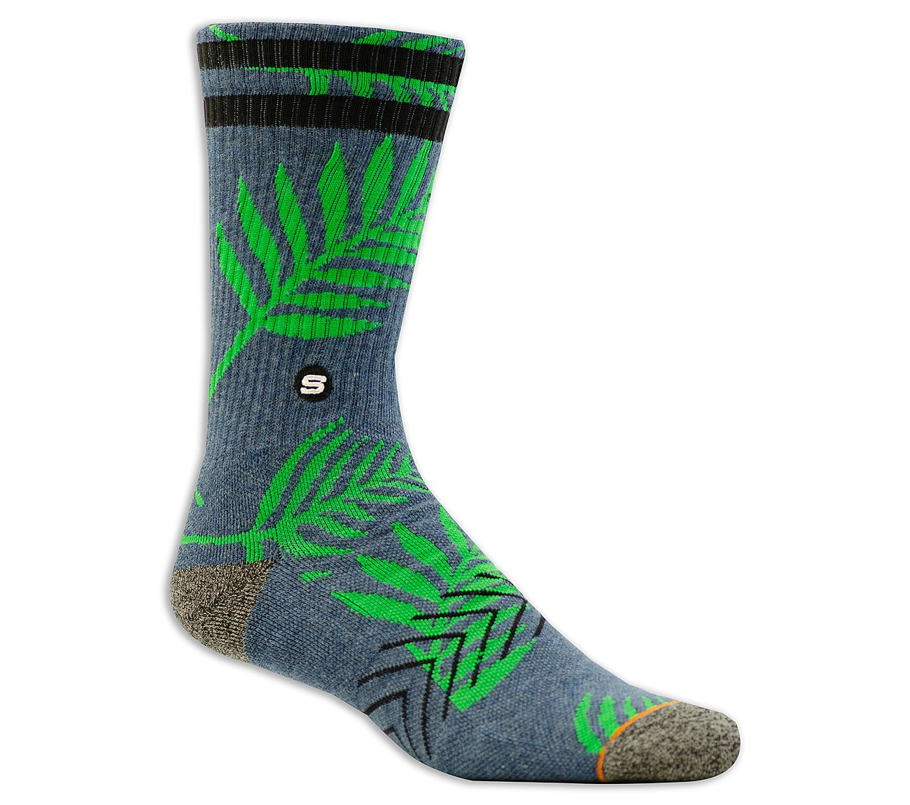 1 Pack Extended Terry Leaves Sock