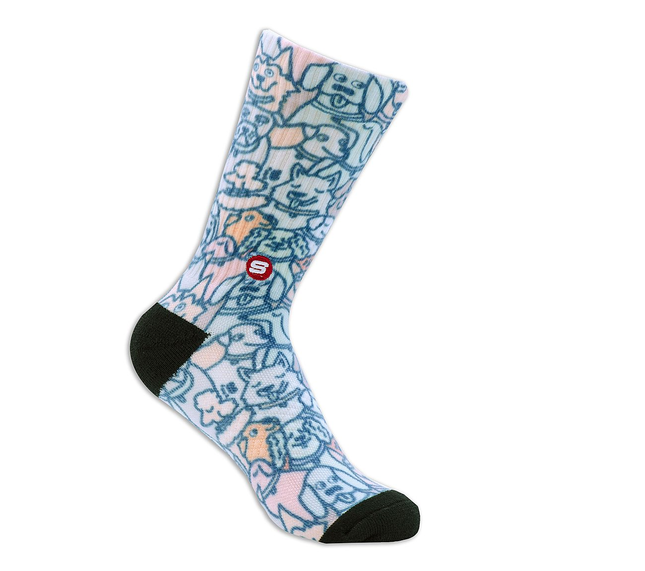 1 Pack BOBS Extended Terry Wag Party Crew Socks