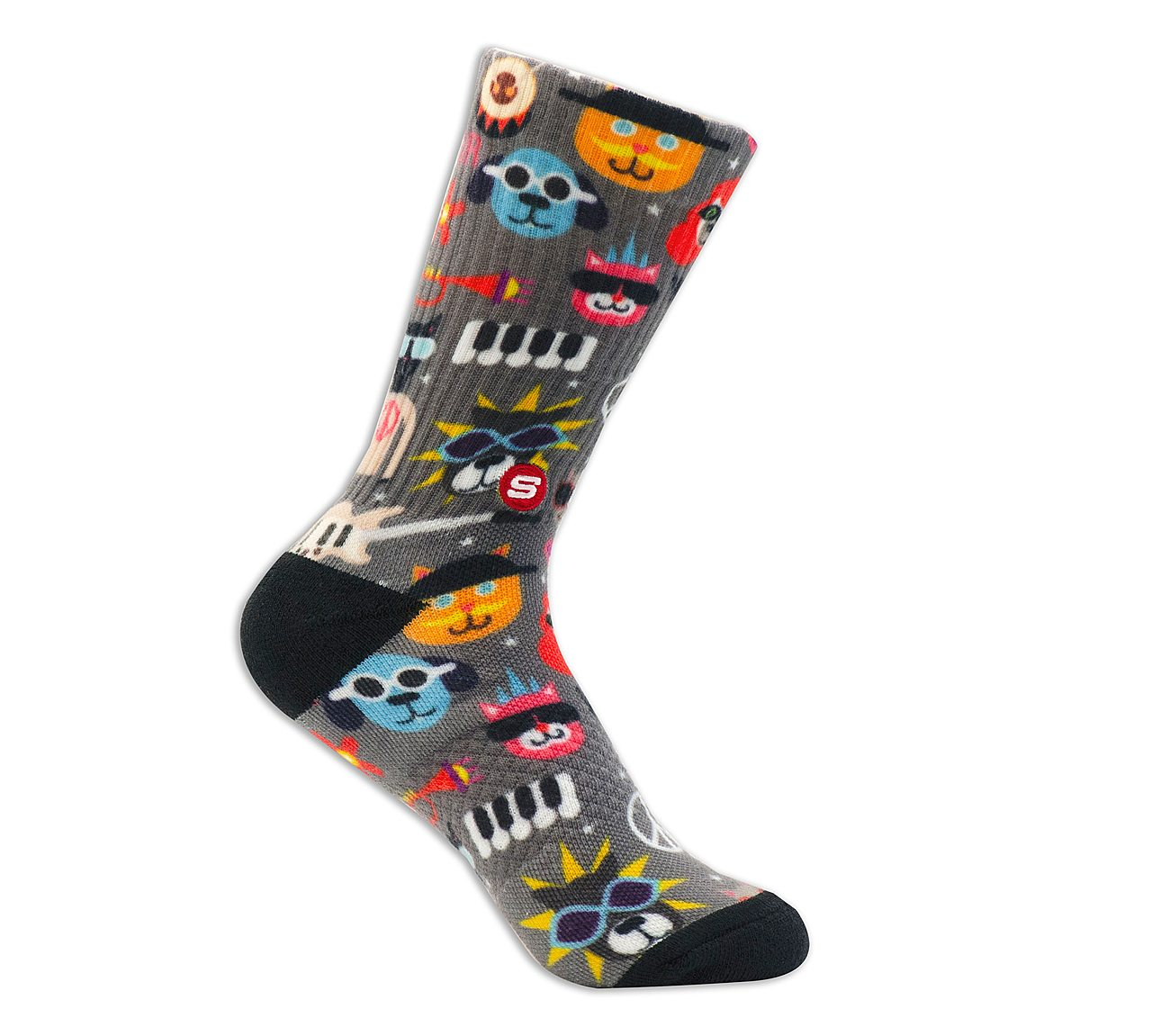 1 Pack BOBS Extended Terry Furry Band Liner Socks