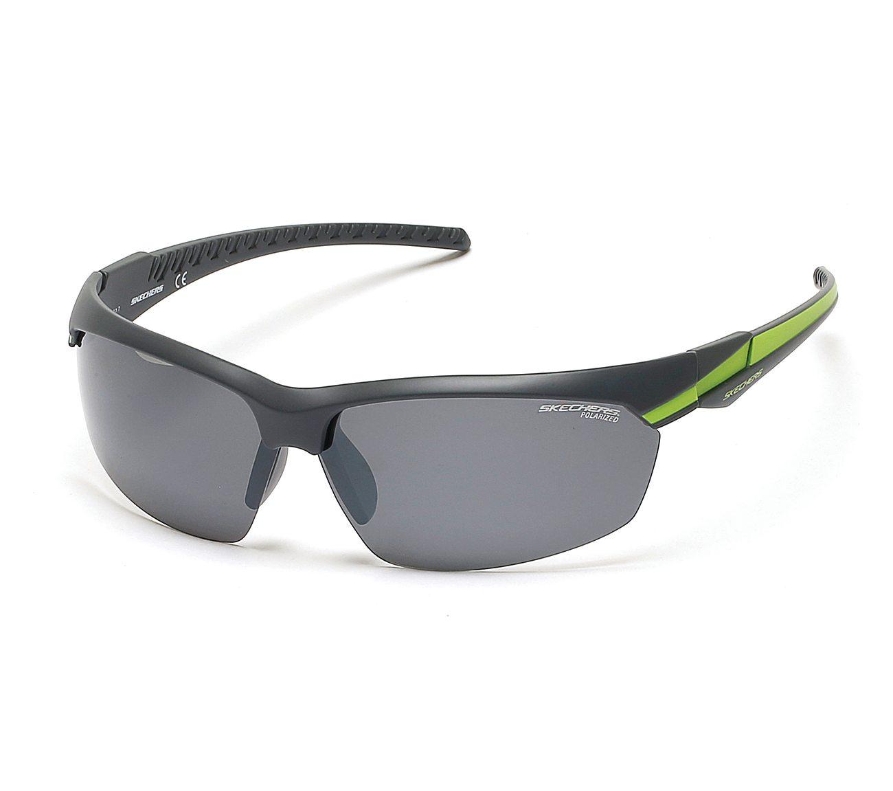 Sport Wrap Half Rim Sunglasses
