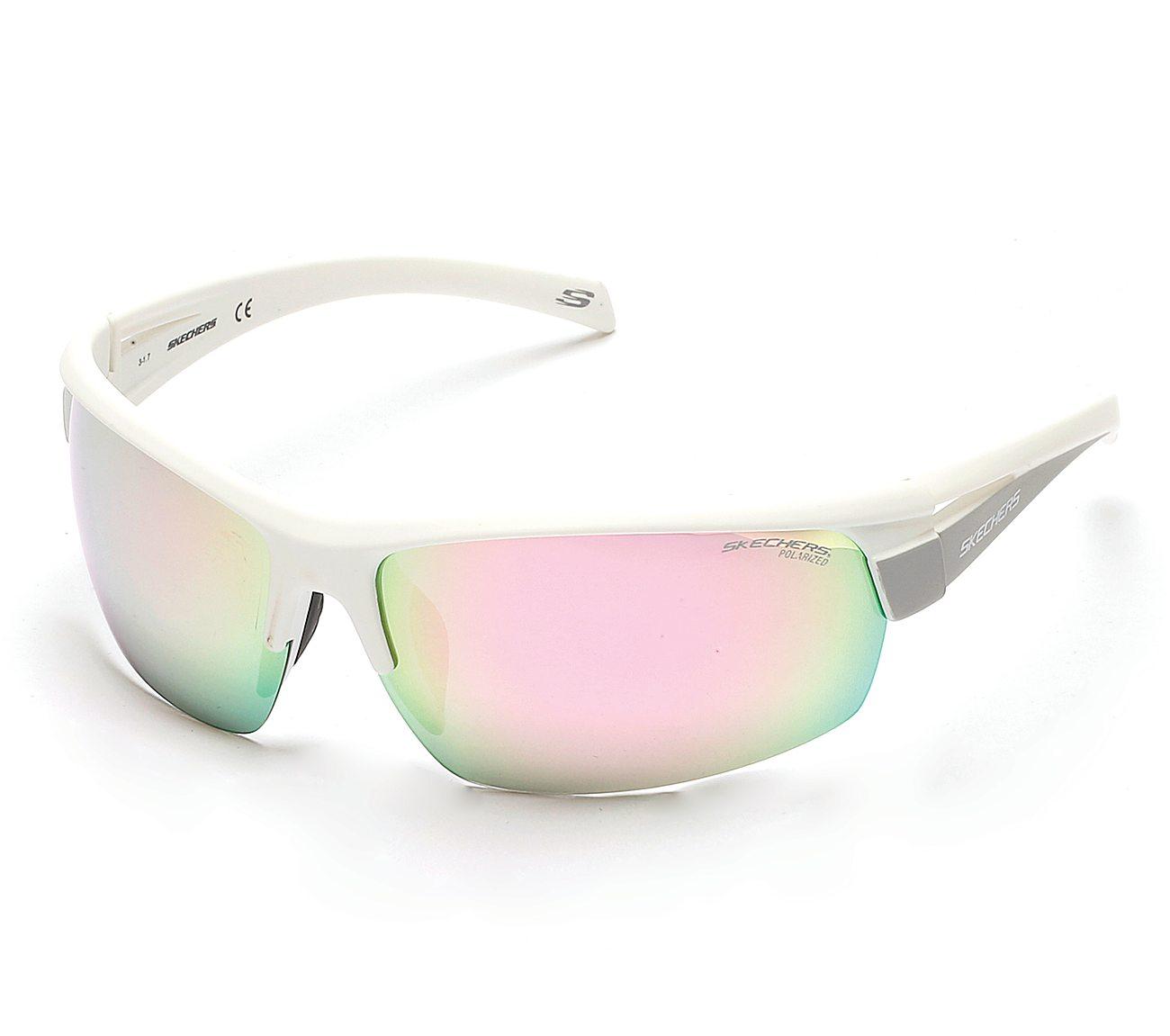 Sport Wrap Semi Rim Sunglasses